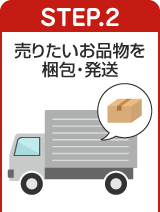 STEP.2 売りたい商品を梱包